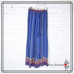 Flying Tomato Wide Leg Pants in Blue